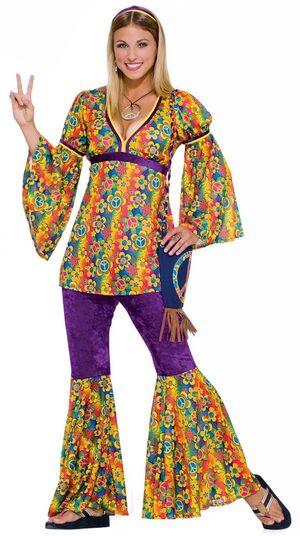Womens Purple Haze Adult Hippie Costume