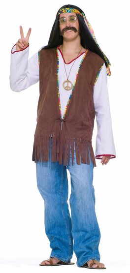 Adult Mens Hippie Fringe Vest