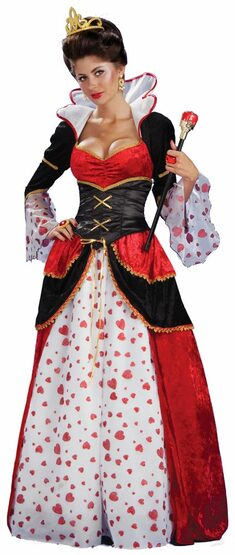 Adult Ruling Queen of Hearts Costume