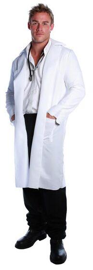 Mens Lab Coat Doctor Costume