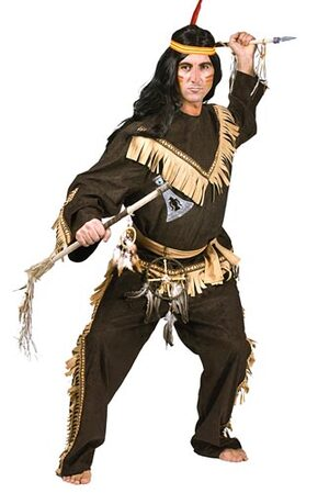 Brave Wolf Warrior Adult Indian Costume