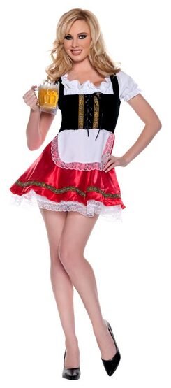 Womens Deluxe Barmaid Sexy Beer Girl Costume