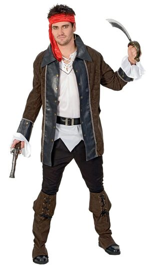 Mens Buccaneer Adult Pirate Costume