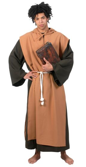 Mens Adult Medieval Monk Costume