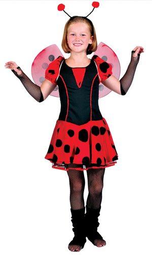 Girls Ladybug Cutie Kids Costume