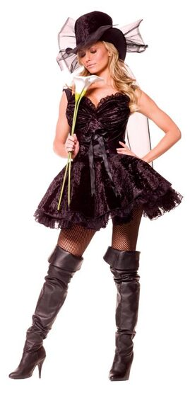 Womens Merry Widow Sexy Costume