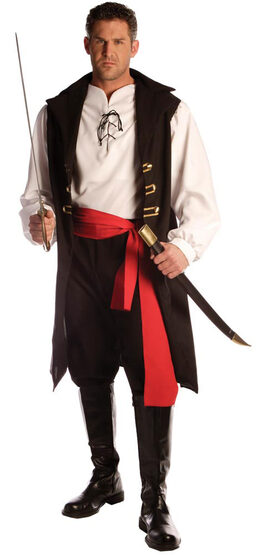Adult Captain Cutthroat Mens Pirate Costume