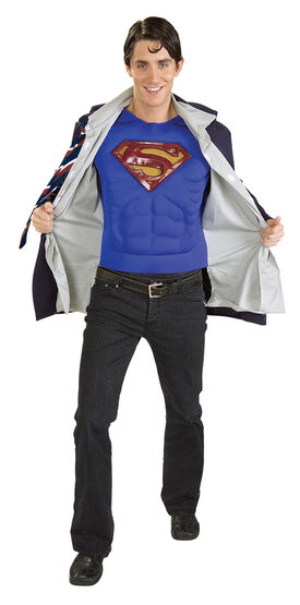 Clark Kent / Superman Muscle Chest Reversible Adult Costume