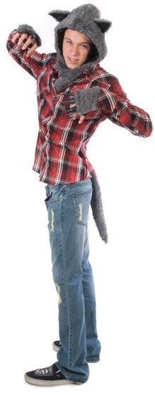 Mens Blue Midnight Werewolf Adult Costume