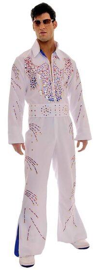 Adult Rock Legend Elvis Presley Costume
