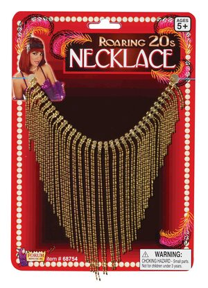 Roaring 20's Gold Flapper Necklace