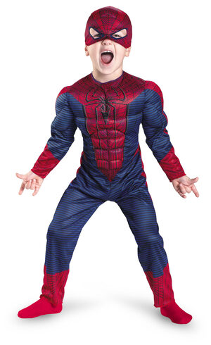 Amazing Spiderman Toddler Muscle Chest Kids Costume