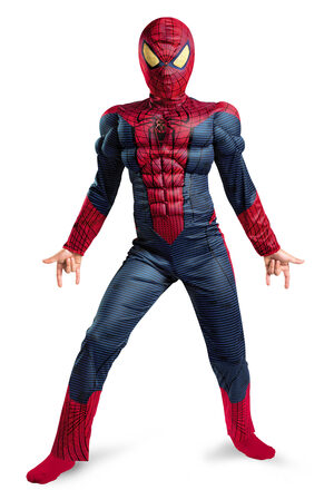 Boys Amazing Spiderman Muscle Chest Light Up Kids Costume