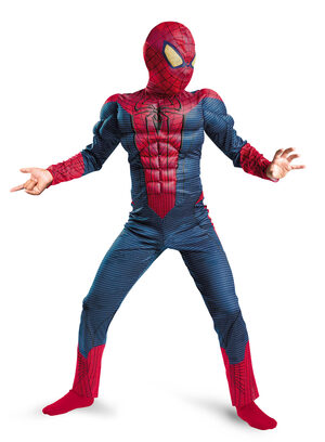 Boys Amazing Spiderman Muscle Chest Kids Costume