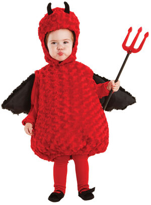 Plush Fur Lil Devil Baby Costume