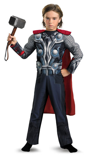 Boys Thor Light Up Muscle Chest Avengers Kids Costume