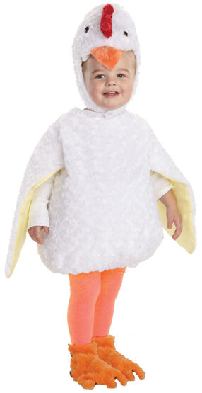 Toddler Furry White Chicken Baby Costume