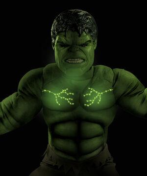 Boys Hulk Light Up Muscle Chest Avengers Kids Costume