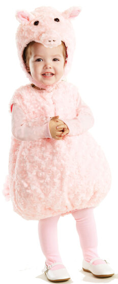 Girls Plush Pink Piglet Baby Costume