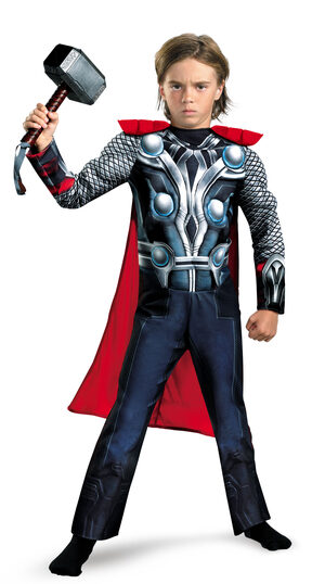 Boys Thor Muscle Chest Avengers Kids Costume