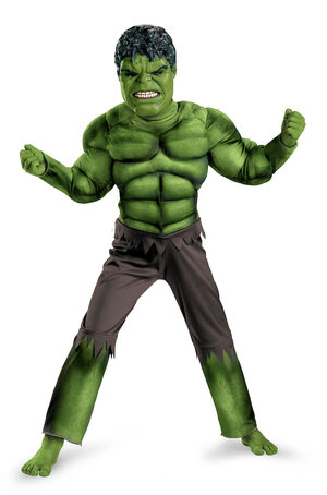 Boys Hulk Muscle Chest Avengers Movie Kids Costume