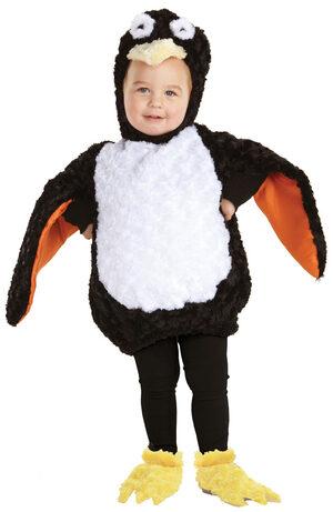Boys Fuzzy Penguin Baby Costume