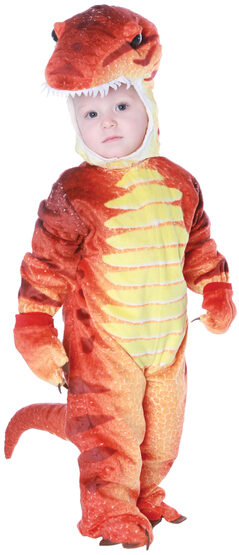 Boys Red T-Rex Dinosaur Kids Costume