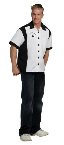 Adult White Bowling Team 50s Costume