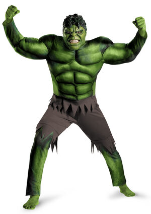 Mens Hulk Muscle Chest Avengers Adult Costume