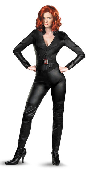 Womens Deluxe Black Widow Avengers Adult Costume