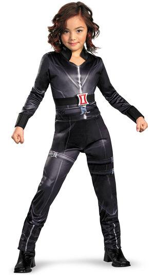 Girls Black Widow Avengers Movie Kids Costume