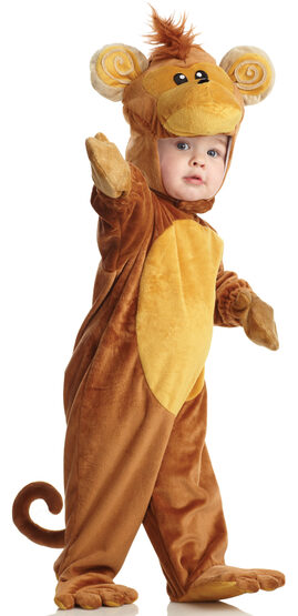 Boys Playful Monkey Kids Costume