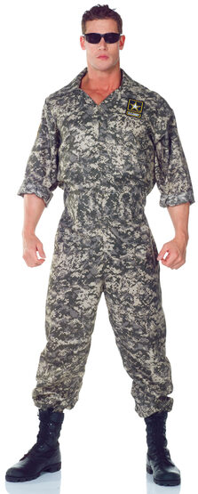 Mens US Army Jumpsuit Adult Costume