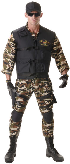 Mens Deluxe SEAL Team Adult Costume