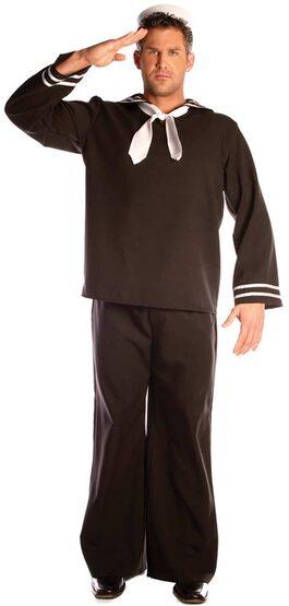 Mens Black Adult Sailor Costume