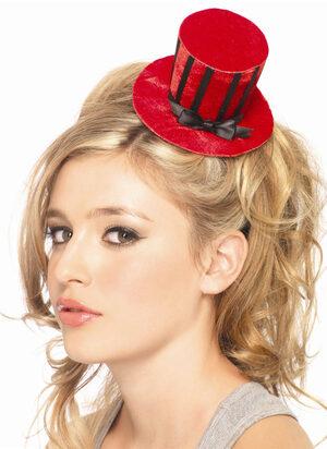 Velvet Striped Petite Satin Top Hat