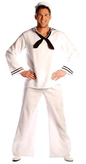Mens White Adult Sailor Costume