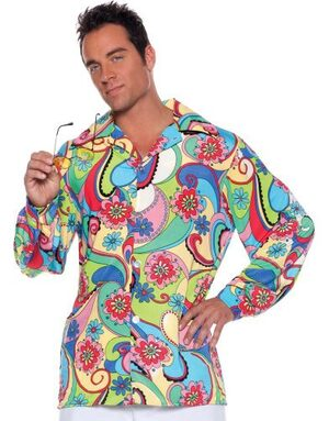 Adult Peace and Love Mens 60s Costume