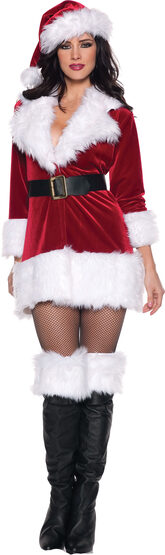 Womens Sexy Secret Santa Costume