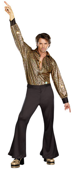 Mens Disco Stayin Alive 70s Adult Costume