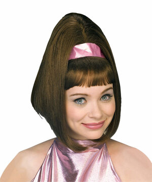 Womens Go-Go Brown 60s Wig