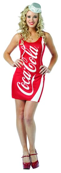 Sexy Coca Cola Dress Food Costume