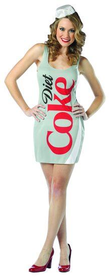 Sexy Diet Coke Dress Food Costume