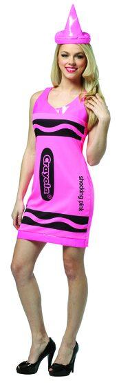 Sexy Shocking Pink Crayon Costume