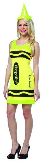 Sexy Laser Lemon Crayon Costume