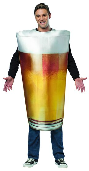Mens Beer Pint Funny Adult Costume