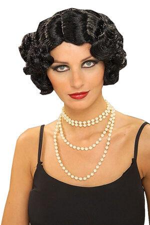 Black 1920s Flapper Wig
