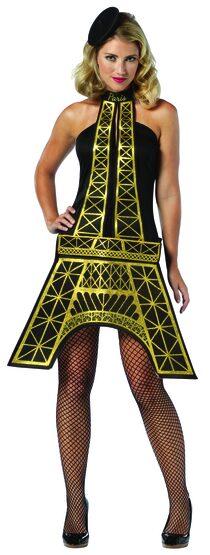 Sexy Eiffel Tower Dress French Costume