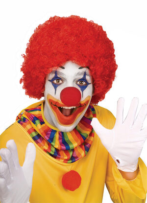 Adult Red Afro Clown Wig