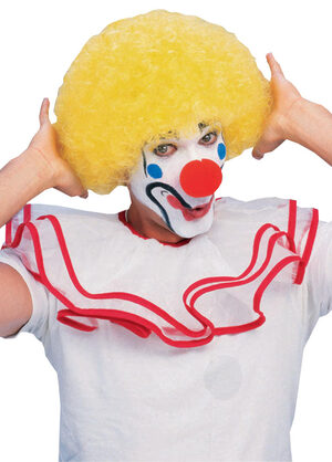 Adult Yellow Afro Clown Wig